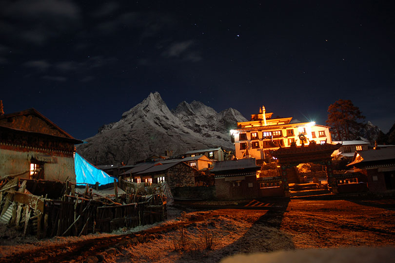 Tengboche During Night Time, A must visit place in the Everest Trail