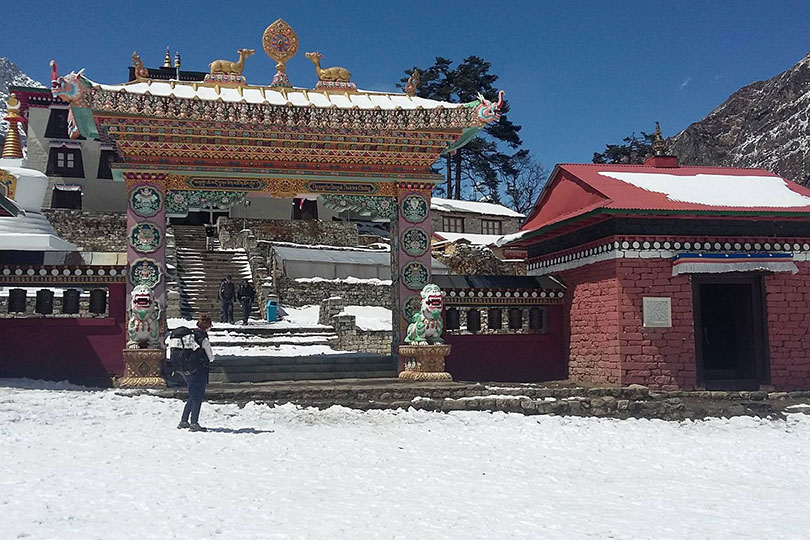 Tengboche Monastery during snow, a pefect picture to represent the way of sherpas, their struggle and cultures