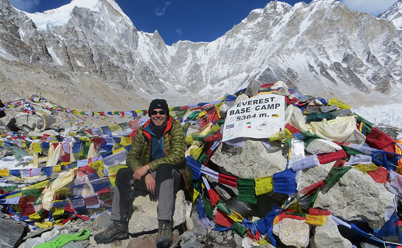 Everest Base Camp during Fall;  one of the best times to trek to Everest Base Camp